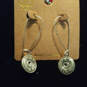 Jewelry - Silver shotgun shell earrings